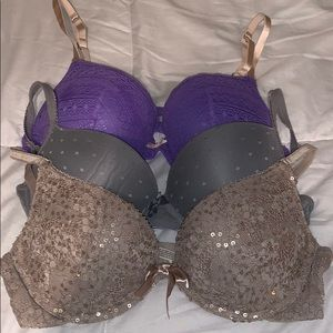 Lot of 3 Aerie bras size 36C